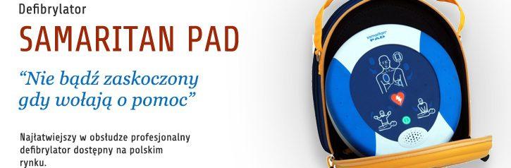 Defibrylator Samaritanin PAD jest najłatwiejszy w obsłudze zawiera Interaktywny Panel Graficzny